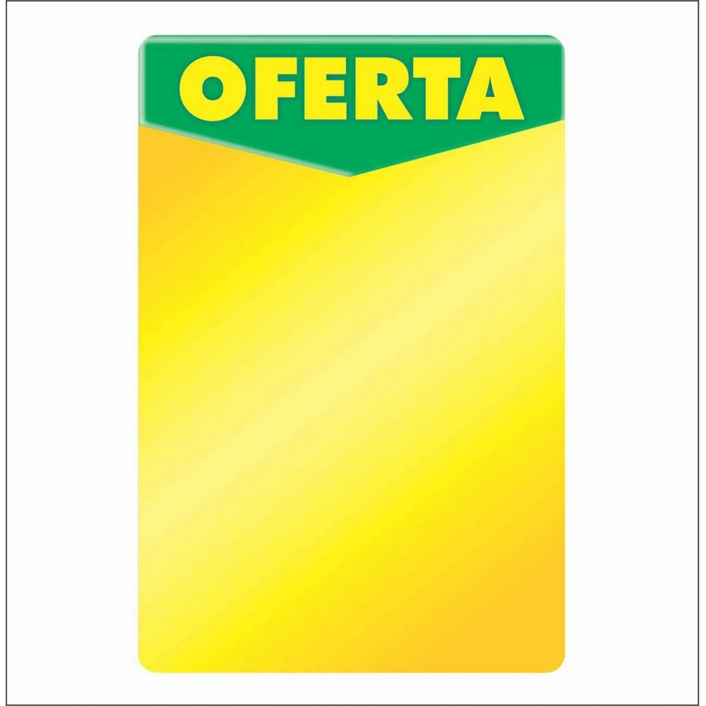 CARTAZ OFERTA VEREDE AMARELO 40X60CM (C/50 UNIDADES, 2D, 250G)