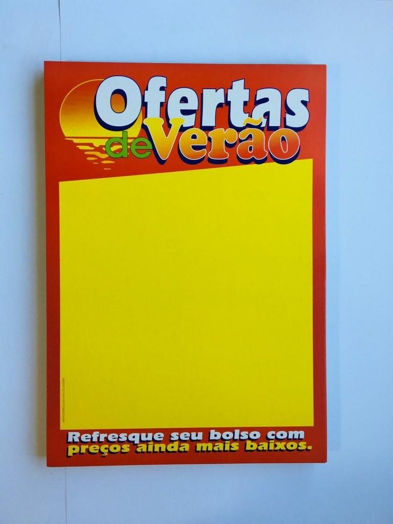 CARTAZ OFERTAS DE VERÃO REFRESQUE SEU BOLSO COM PREÇOS AINDA MAIS BAIXOS 30X40 (C/50 UNIDADES)