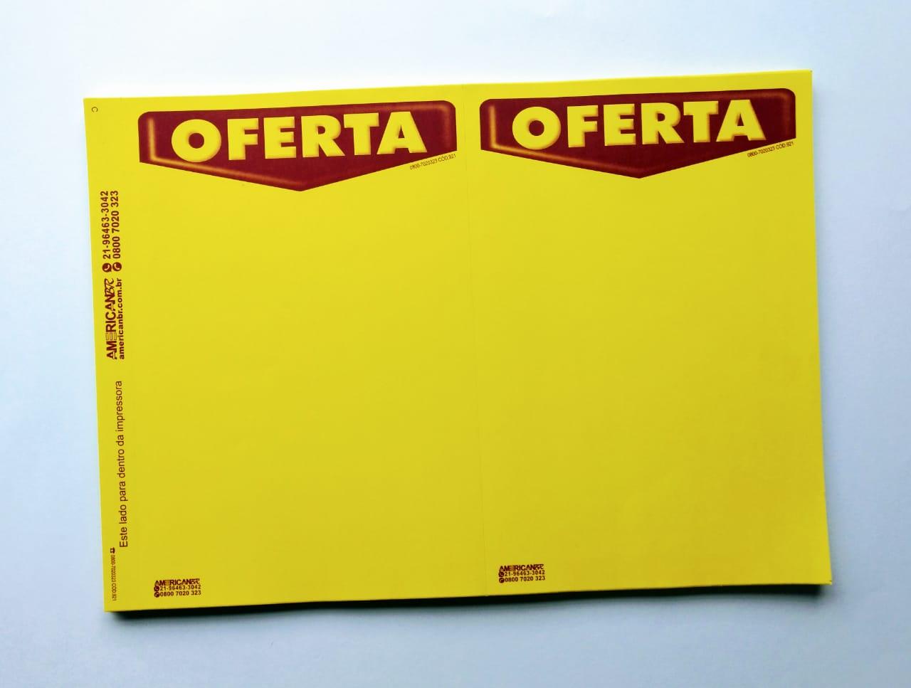 ETIQUETA MICROSERRILHADA OFERTA C/2 (C/50 UNIDADES) TAMANHO (A4)