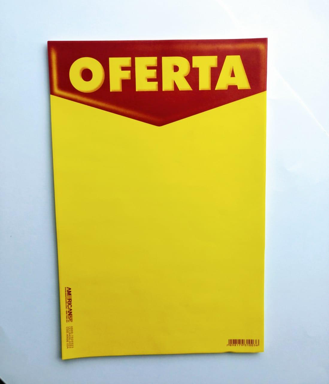 CARTAZ PARA IMPRESSORA OFERTA  (C/50 UNIDADES) TAMANHO (A4)