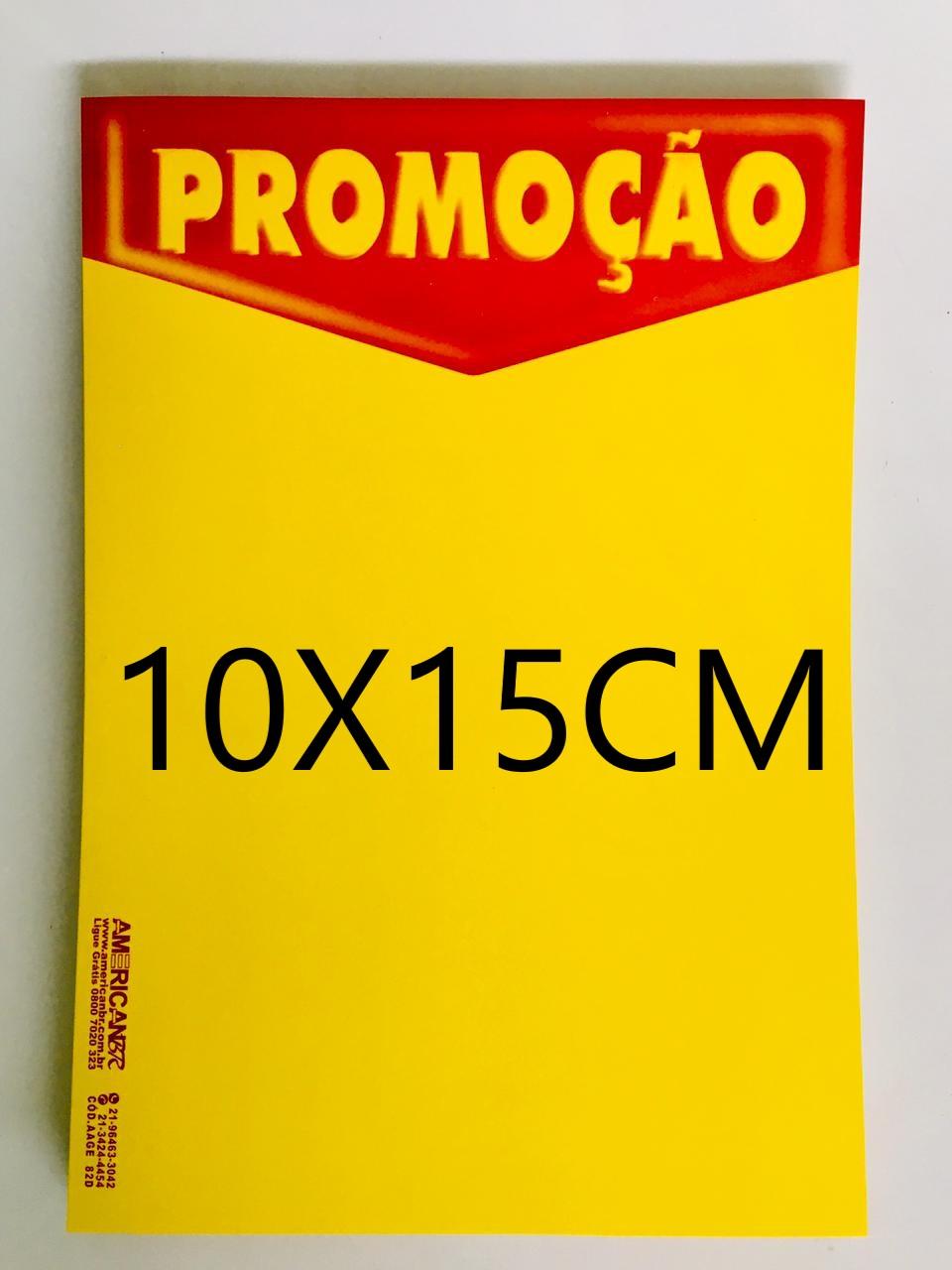 CARTAZ PROMOÇÃO 10X15CM (C/50 UNIDADES, 2D, 250G)