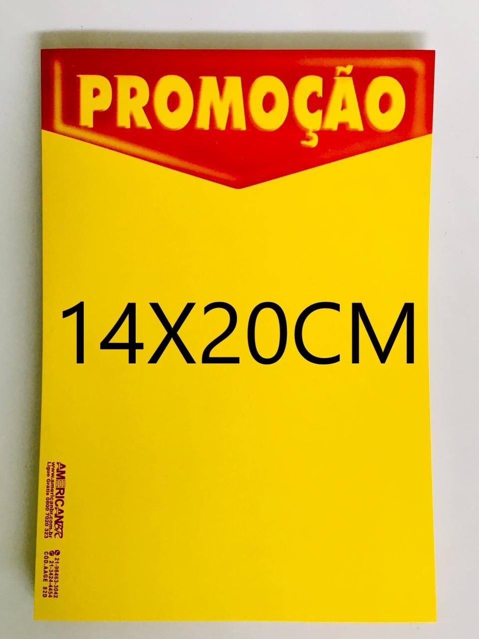 CARTAZ PROMOÇÃO 14X20CM (C/50 UNIDADES, 2D, 250G)
