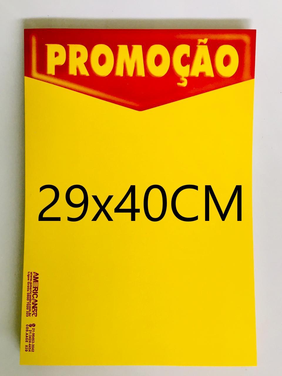 CARTAZ PROMOÇÃO 29X40CM (C/50 UNIDADES, 2D, 250G)