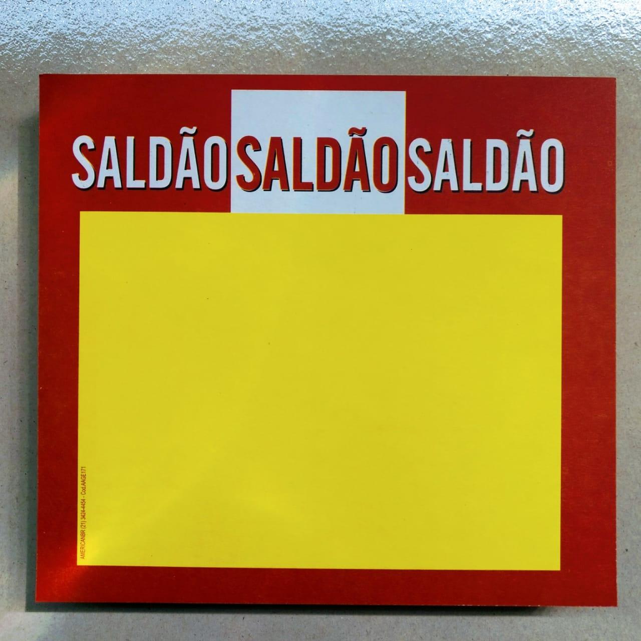 CARTAZ SALDÃO 21X22CM (C/50 UNIDADES)