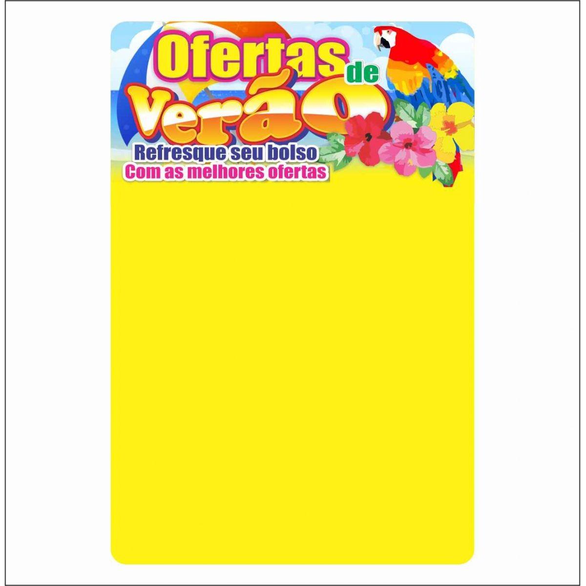 CARTAZ VERÃO ARARA 29X40CM (C/50 UNIDADES)