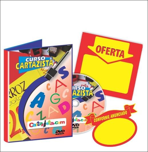 CURSO DE CARTAZISTA = DVD + 50 CARTAZ + 50 SPLASH + SUPORTE ON-LINE