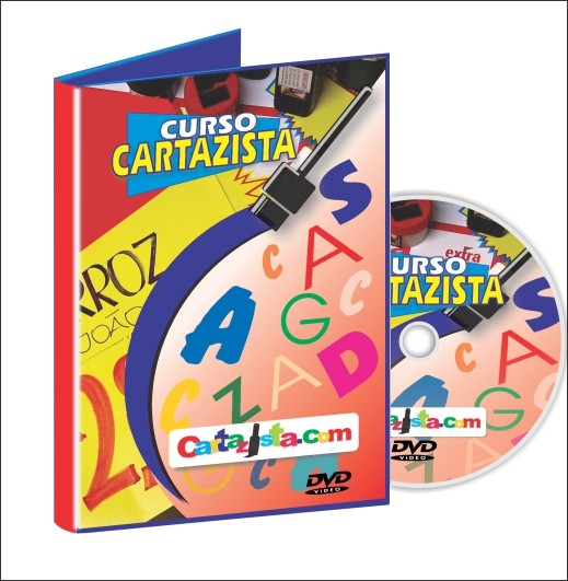 CURSO DE CARTAZISTA = DVD + SUPORTE ON-LINE