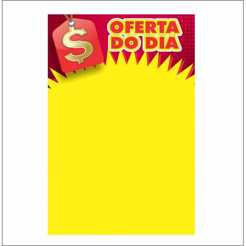 Mercado Livre - CARTAZ OFERTA DO DIA 40X60CM (C/50 UNIDADES)