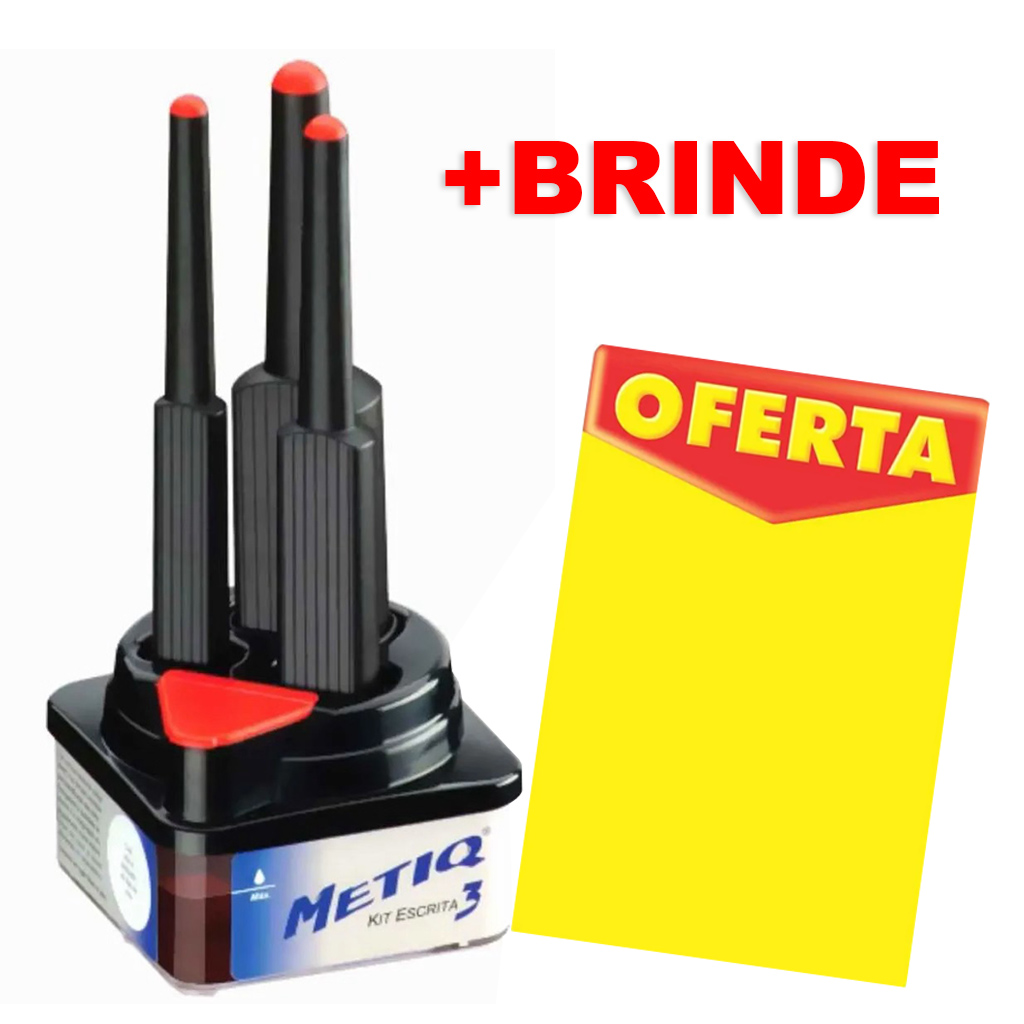Mercado livre - (METIQ) KIT C/3 PINCEIS + BRINDE