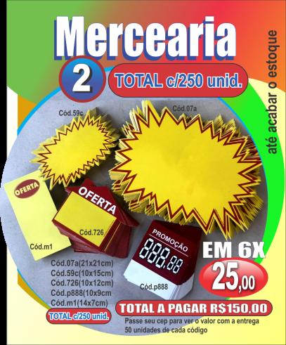 MERCEARIA 2 (C/250 UNIDADES)
