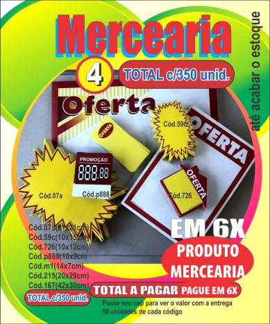 MERCEARIA 4 (C/350 UNIDADES)