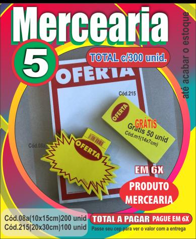 MERCEARIA 5 (C/300 UNIDADES)