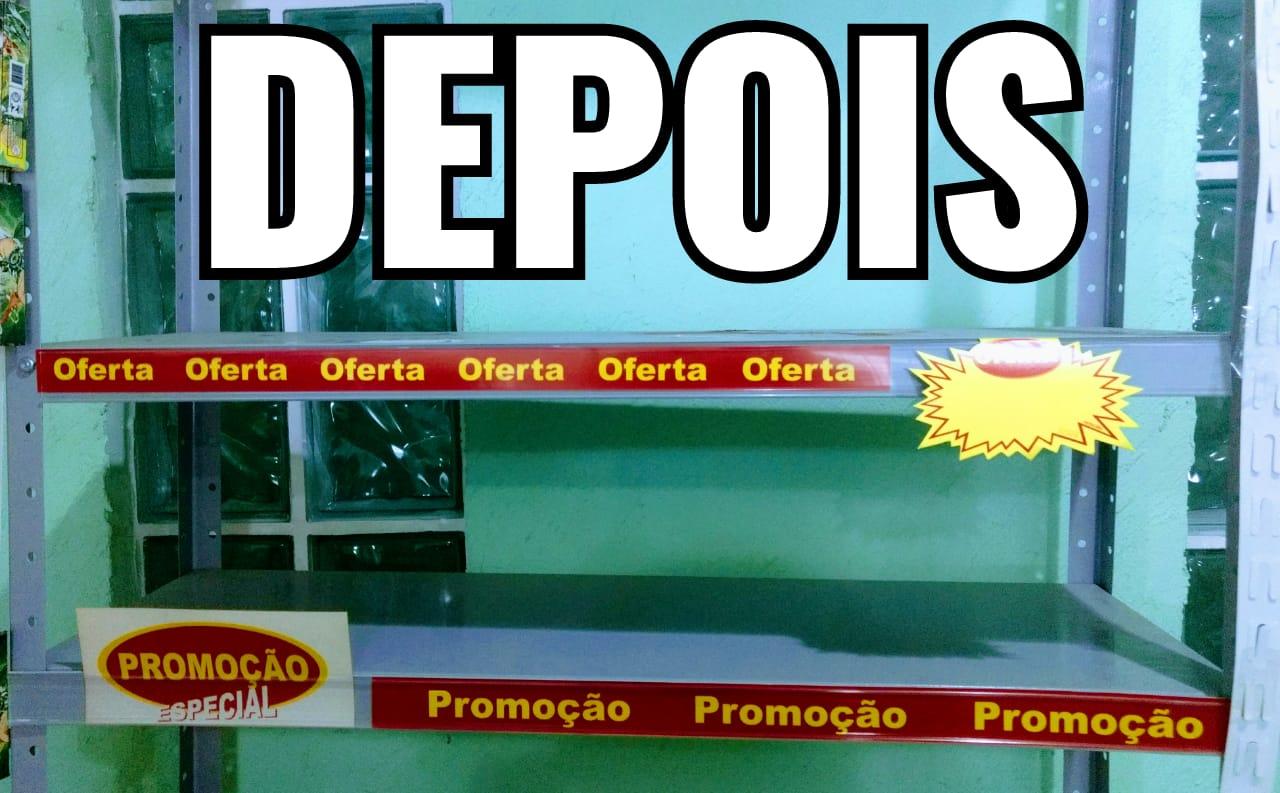 PERFIL PORTA ETIQUETA DE GÔNDOLA C/DUPLA FACE (C/12 UNIDADES)