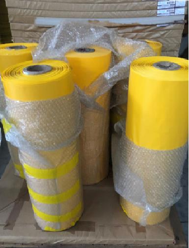 PLÁSTICO (PVC) AMARELO PARA CARTAZ 70CM X 100MTS