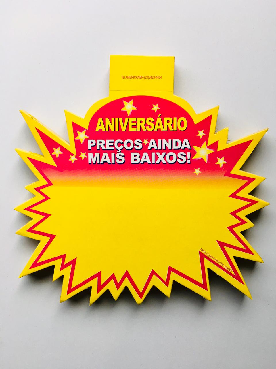 SPLASH ANIVERSÁRIO 21X21CM (C/50 UNIDADES)