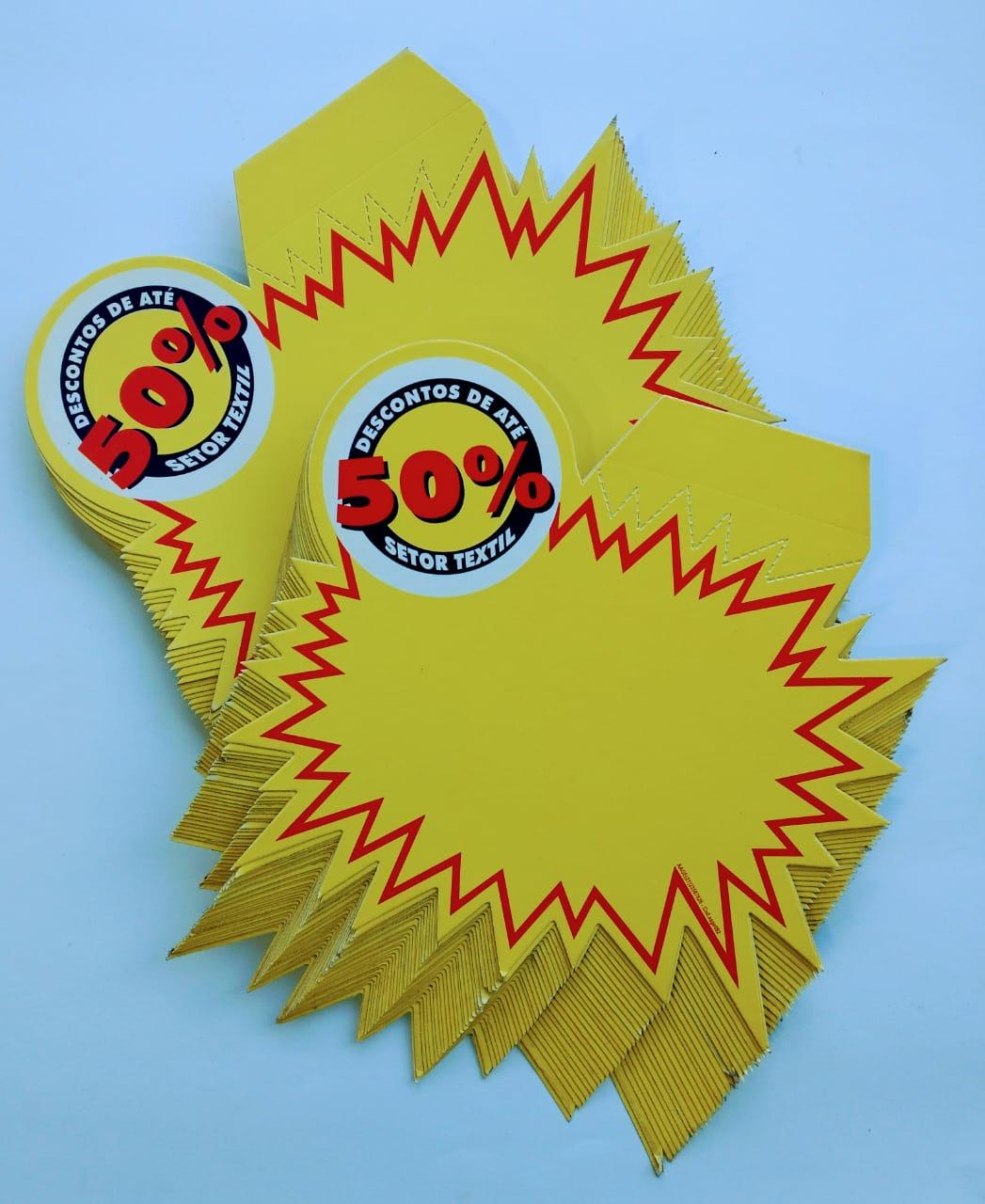 SPLASH DESCONTO 50% SETOR TEXTIL  23X20CM (C/50 UNIDADES)