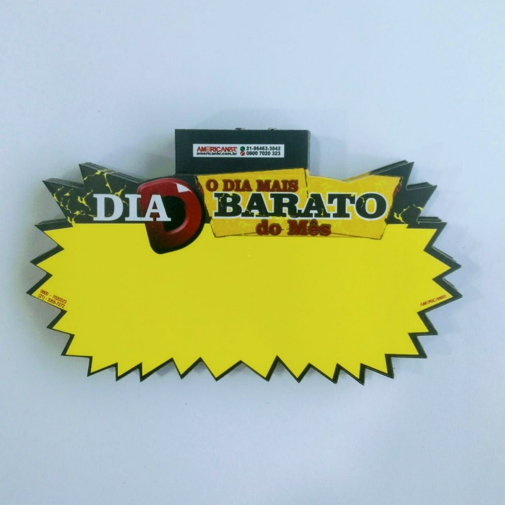 SPLASH DIA MAIS BARATO 12X21 (C/100 UNIDADES)