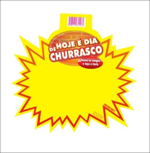 SPLASH HOJE É DIA DE CHURRASCO 21X21CM (C/50 UNIDADES)