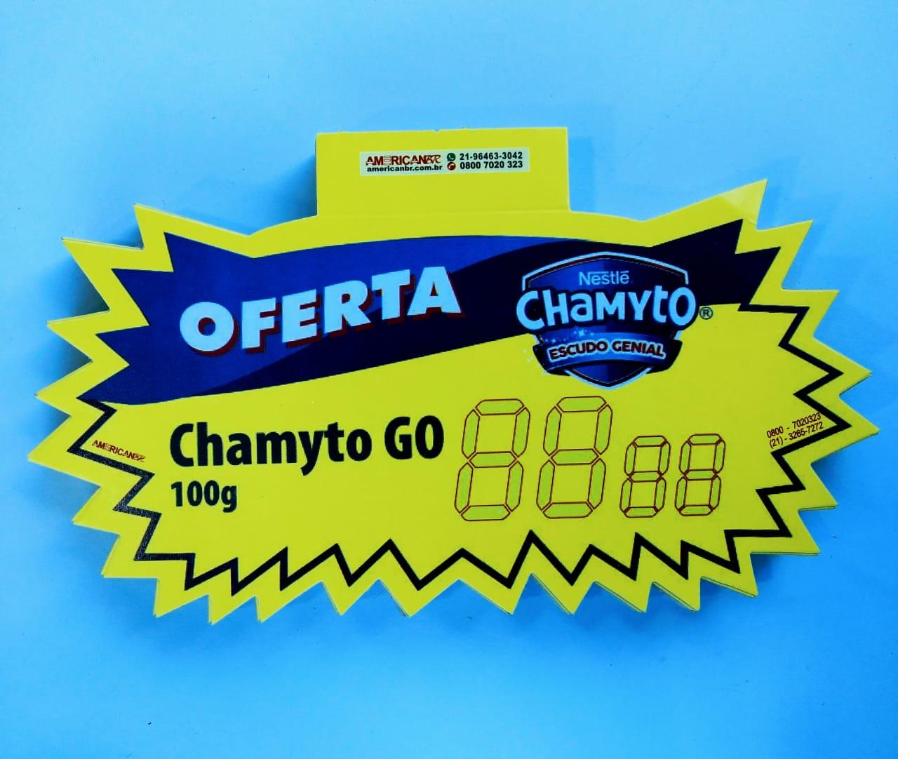 SPLASH OFERTA NESTLÉ CHAMYTO GO 12X20CM (C/50 UNIDADES)