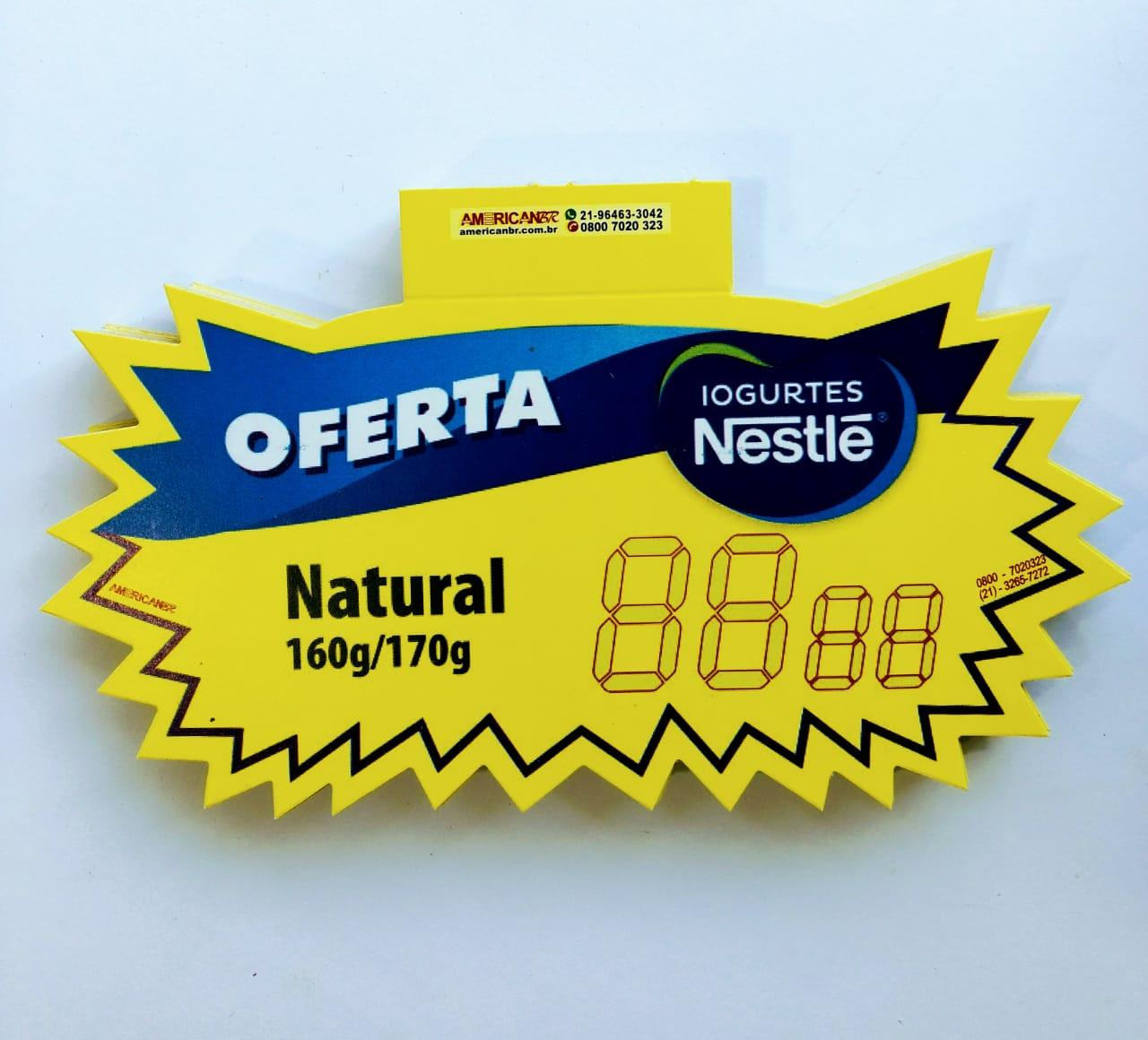 SPLASH OFERTA NESTLÉ IOGURTES NATURAL 12X20CM (C/50 UNIDADES)