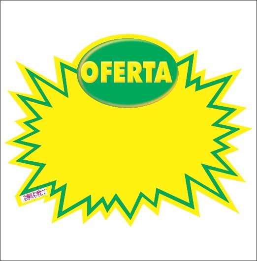 SPLASH OFERTA VERDE 29X39CM (C/50 UNIDADES,COPA)