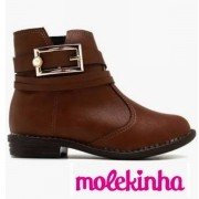 BotaInfantil Feminina Molekinha Napa Café 2167116