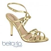 - Sandália Feminina Metalizada Beira Rio Dourada 82961143