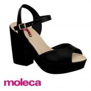 Sandália Moleca Napa Preta 5292701