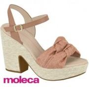 Sandália Moleca Salto Alto Nude 5292932e