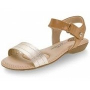 Sandalia Rasteira Modare Dourado Camel 7025350