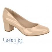 Sapato Baixo Verniz Beira Rio - Bege 4777309