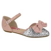 Sapato Moleca Rosa/Prata 2534103