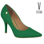 Sapato Scarpin Feminino Vizzano Verde Camurça 11841101