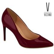 Sapato Scarpin Feminino Vizzano Vinho Verniz 1344100