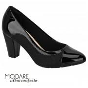 Sapato Scarpin Modare Ultraconforto Preto Verniz 7305442