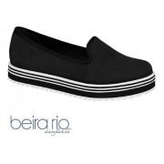 Sapato Slipper Beira Rio Napa Preto 4196500