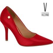 Sapato Vizzano Verniz Lezard Glam Vermelho 11841101