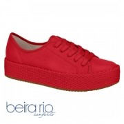 Tênis Feminino Casual Flatform Vermelho Beira Rio 4194302