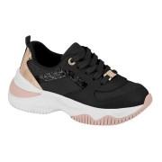 Tênis Infantil Kids Sneaker Molekinha Preto Napa 2540102