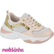 Tênis Infantil Sneaker Molekinha Creme Napa 2540102