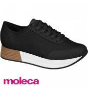 Tênis Moleca Preto Napa 5627423