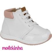 Tênis Molekinha Branco Napa 2701106