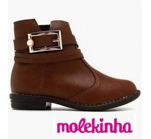 Bota Infantil Feminina Molekinha Napa Café 2167116