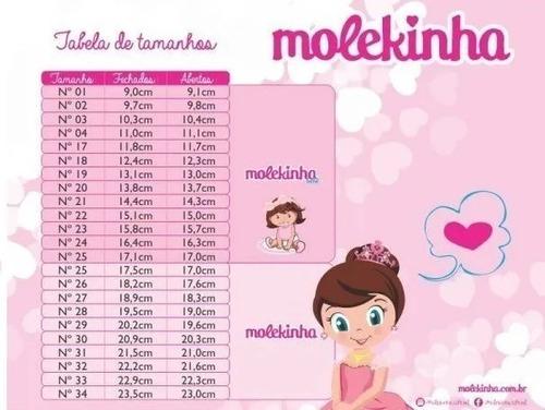 *Botinha Molekinha Verniz Rosa 2173102
