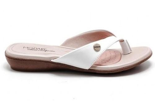 Sandália Casual Branco Napa Modare Ultraconforto 7127213