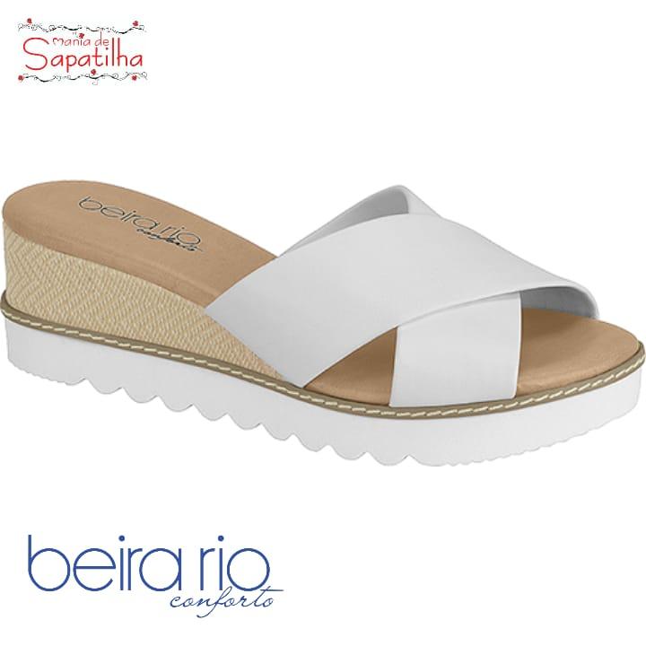 Sandália Feminina Beira Rio Napa Branco 8325205