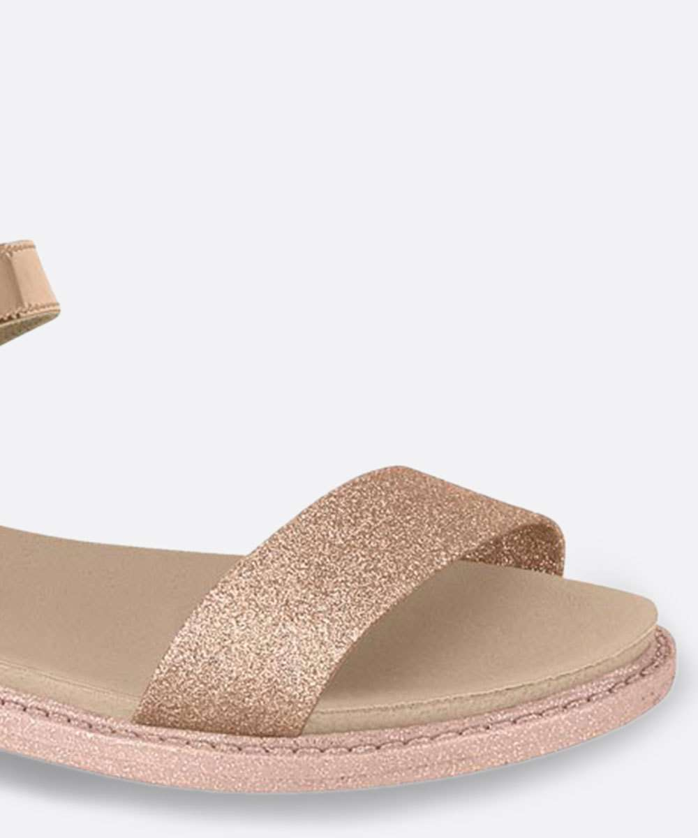 Sandália Infantil Metalizada Glitter Rosa Molekinha 2312517