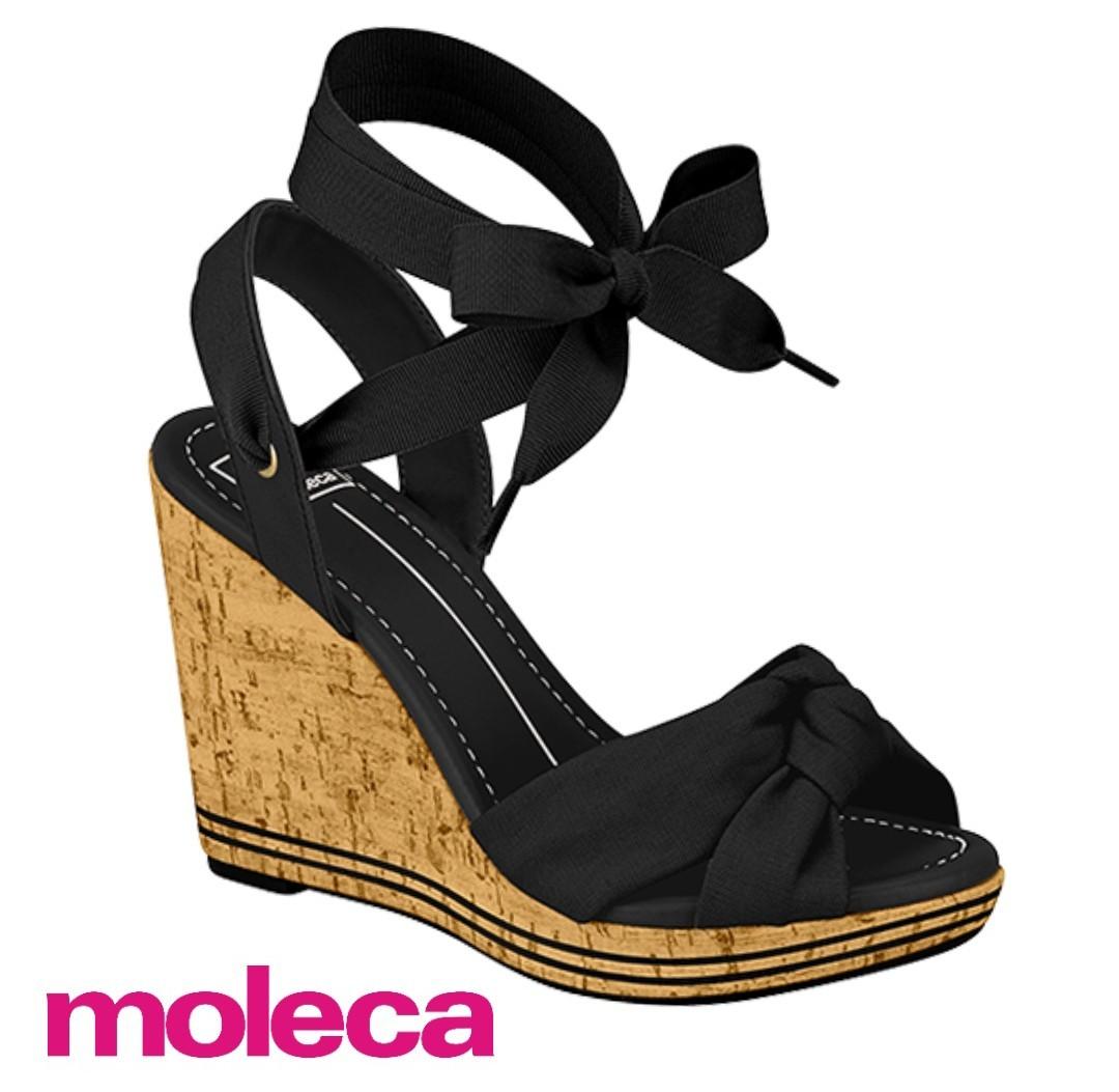 Sandália Moleca Napa Preto 5411721