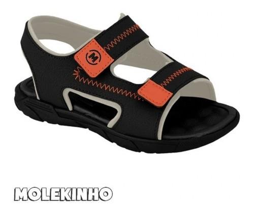 Sandália Molekinho Preto/laranja 2135136