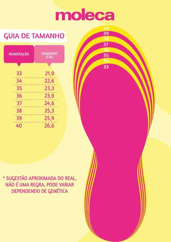 Sandália Rasteira Moleca Preta Brilho Original 5413619E